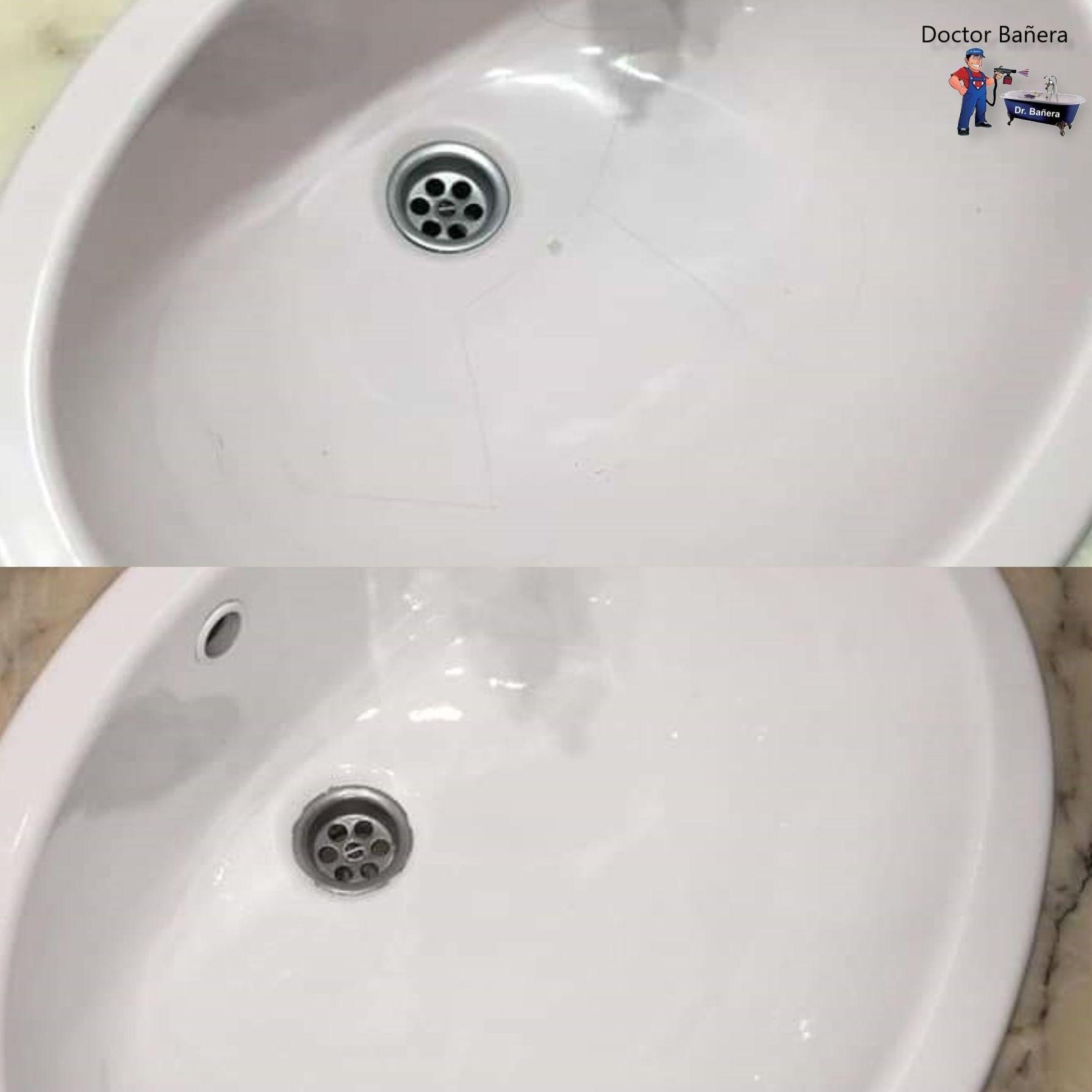 esmaltado de lavamano
