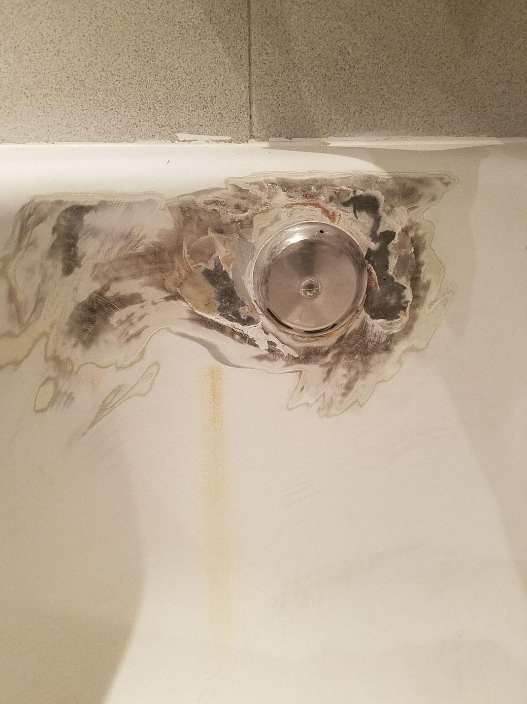 Rebosadero oxidado