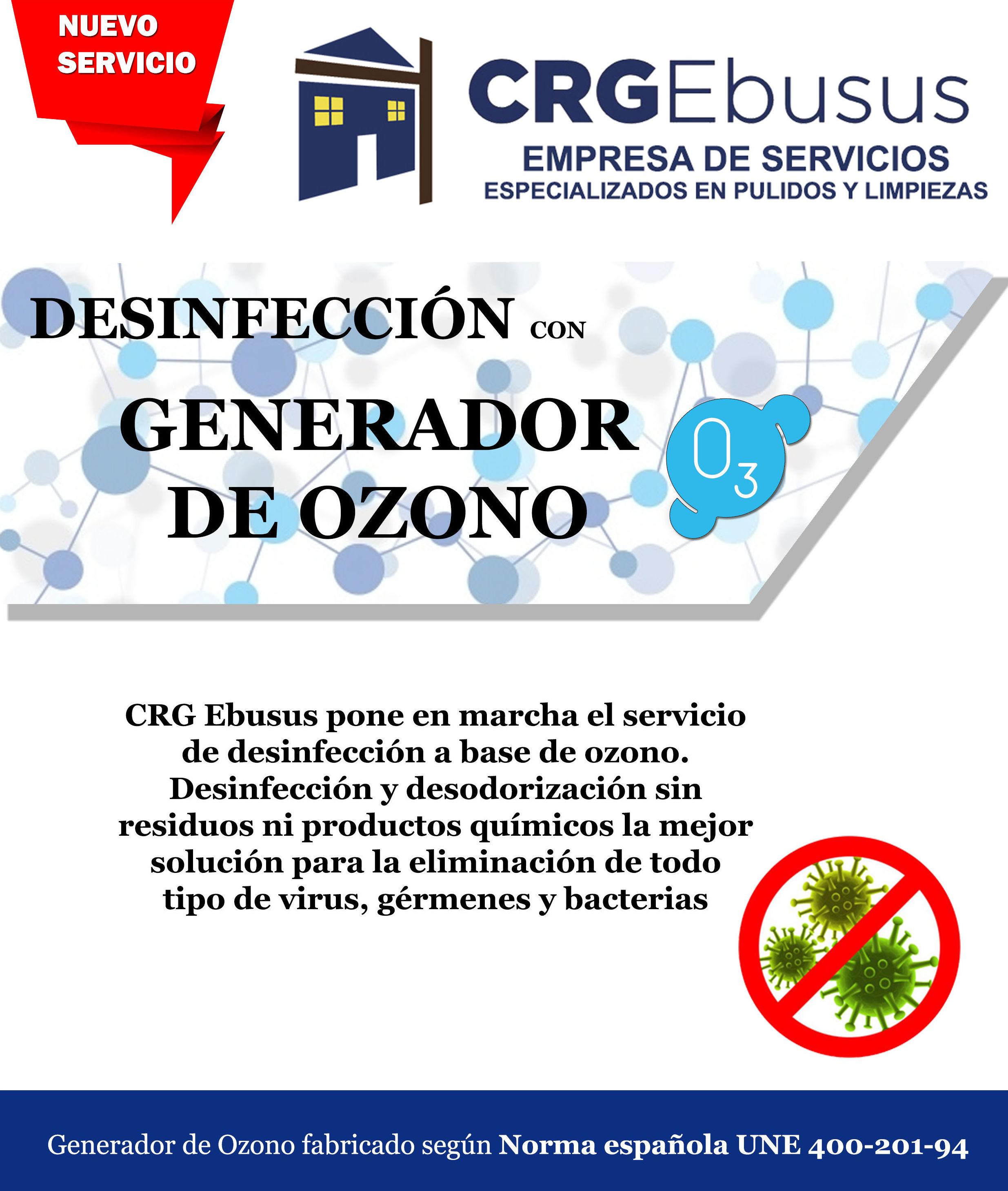 Generador de Ozono: Servicios de CRG Ebusus