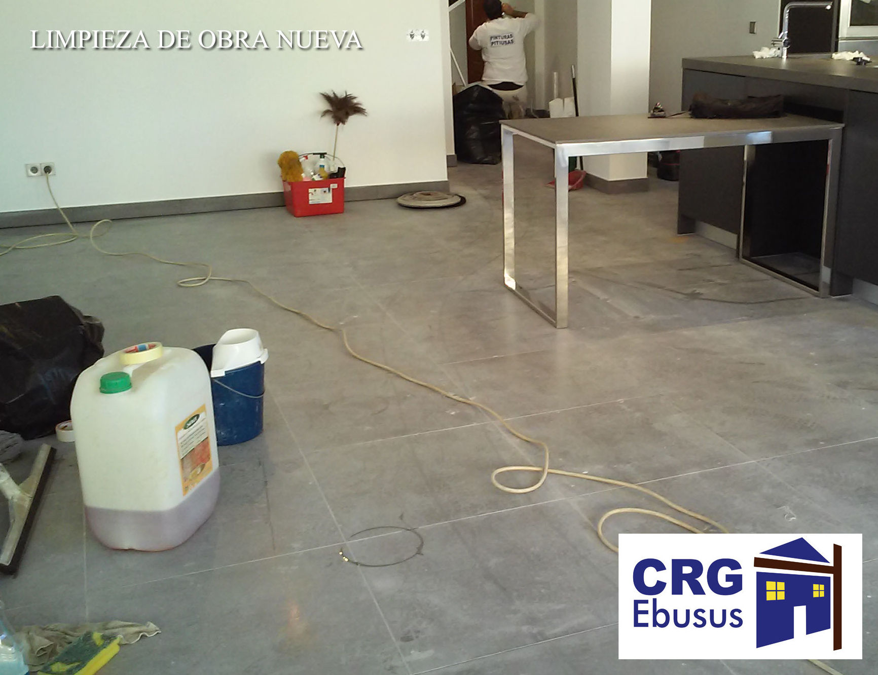Cleaning service for new construction buildings
