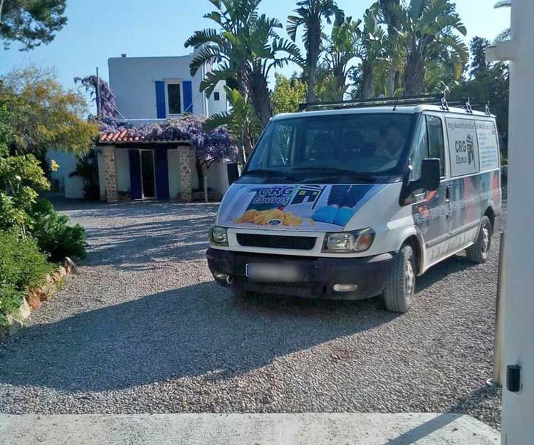 Cleaning company vehicle in Ibiza
