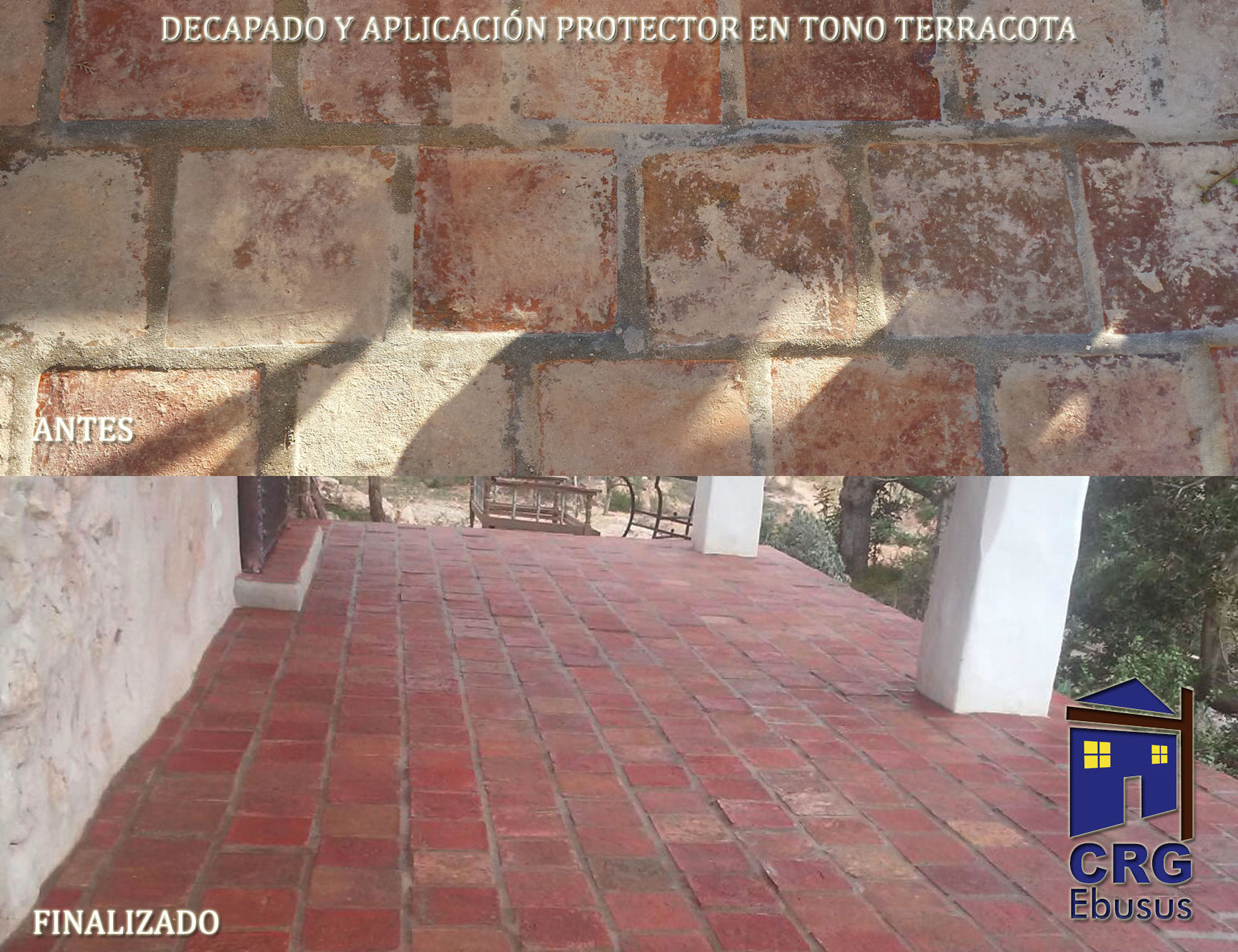 Treatment of scouring in terracotta floors
