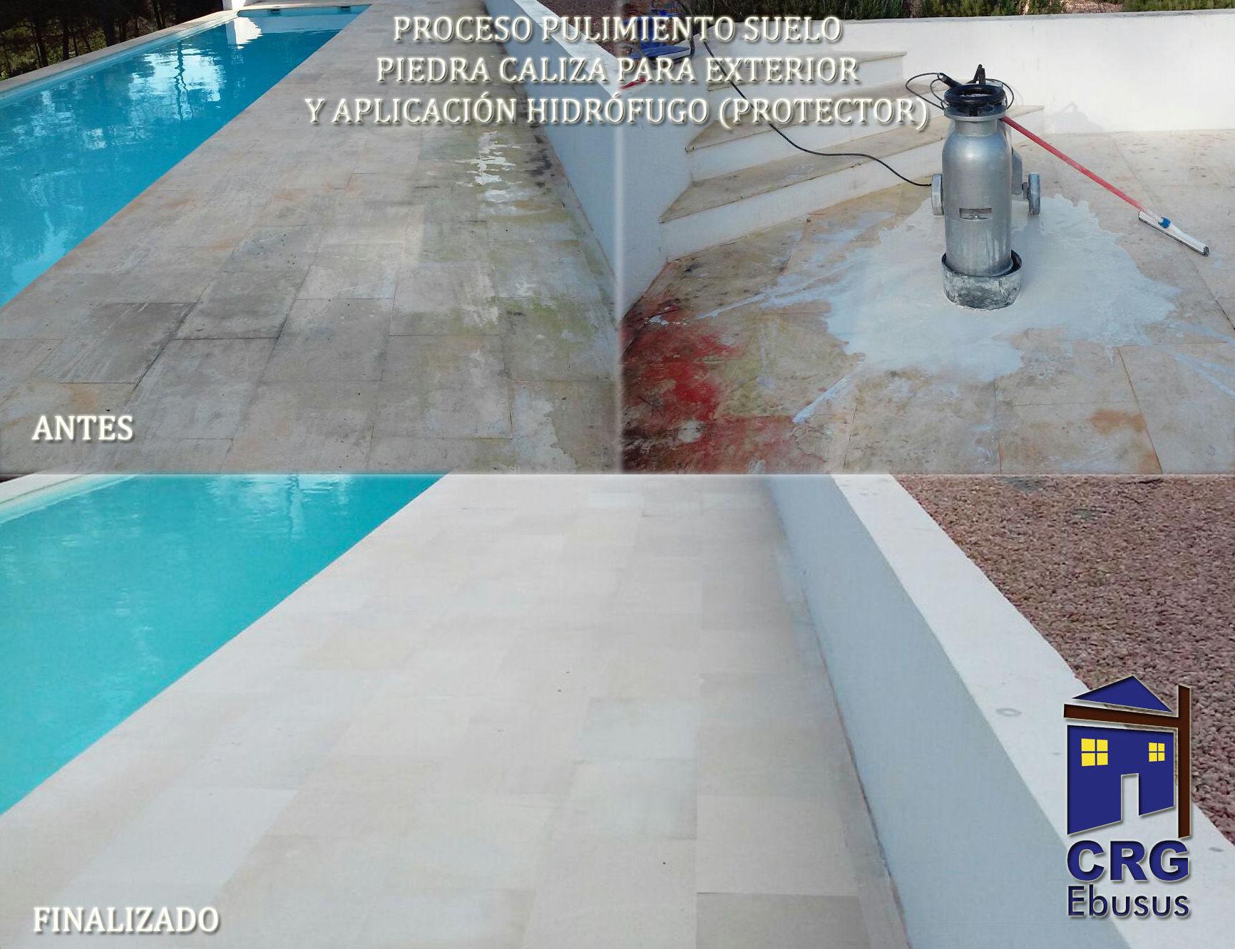 Outdoors floors polishing