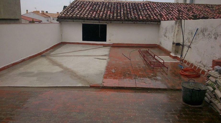 Terraza antes de su restauración en Piles  ( Valencia )