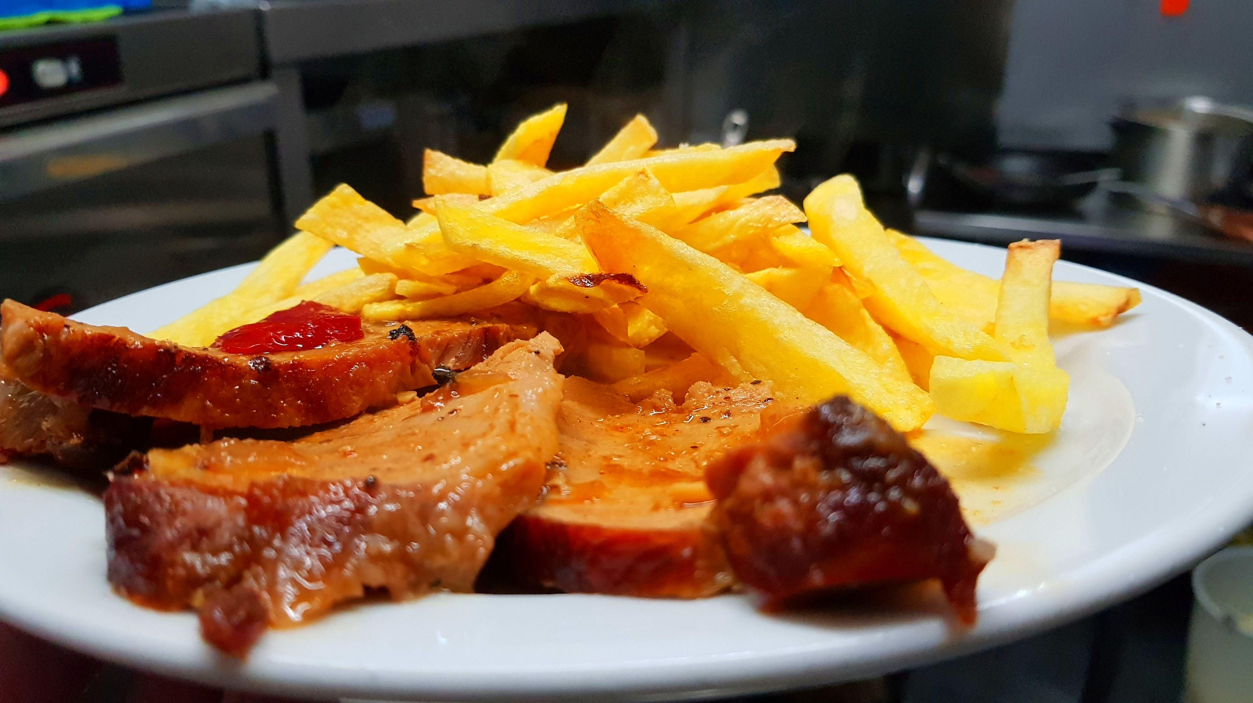 carne asada con patata