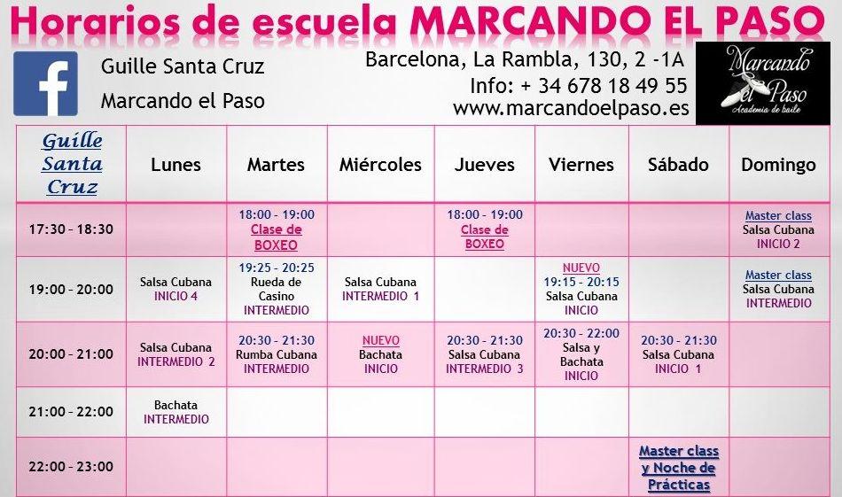 Horarios de escuela MARCANDO EL PASO