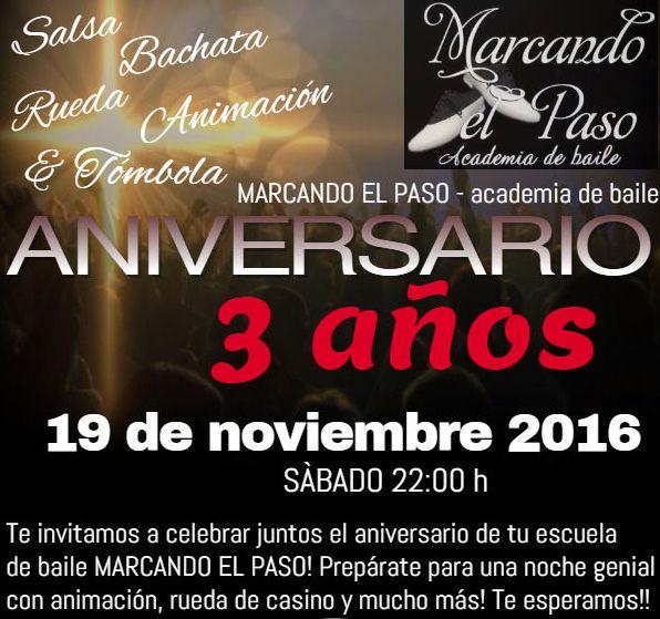 Feliz Cumpleanos MARCANDO EL PASO - 3 anos