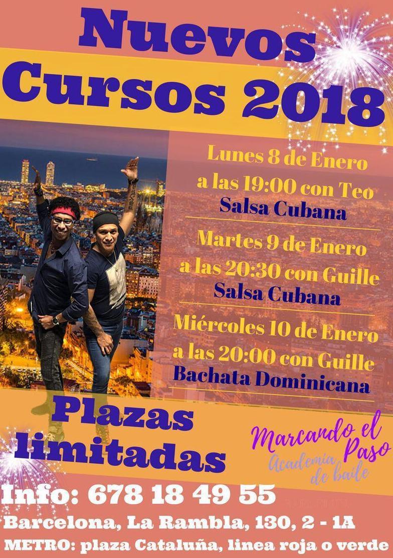 Nuevos cursos de salsa cubana y bachata en Barcelona