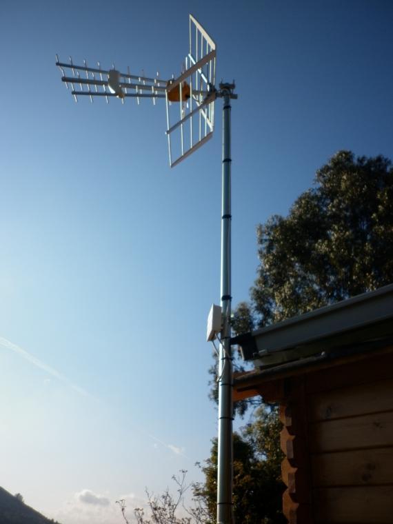 Instalación de antena
