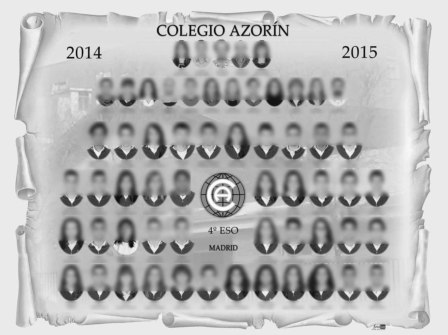 Orla de graduación Cuarto Eso, Colegio Azorín, Madrid