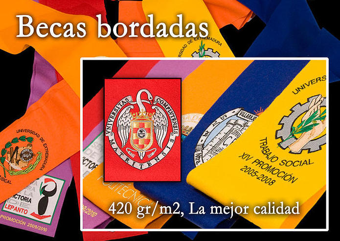 Becas bordadas Madrid