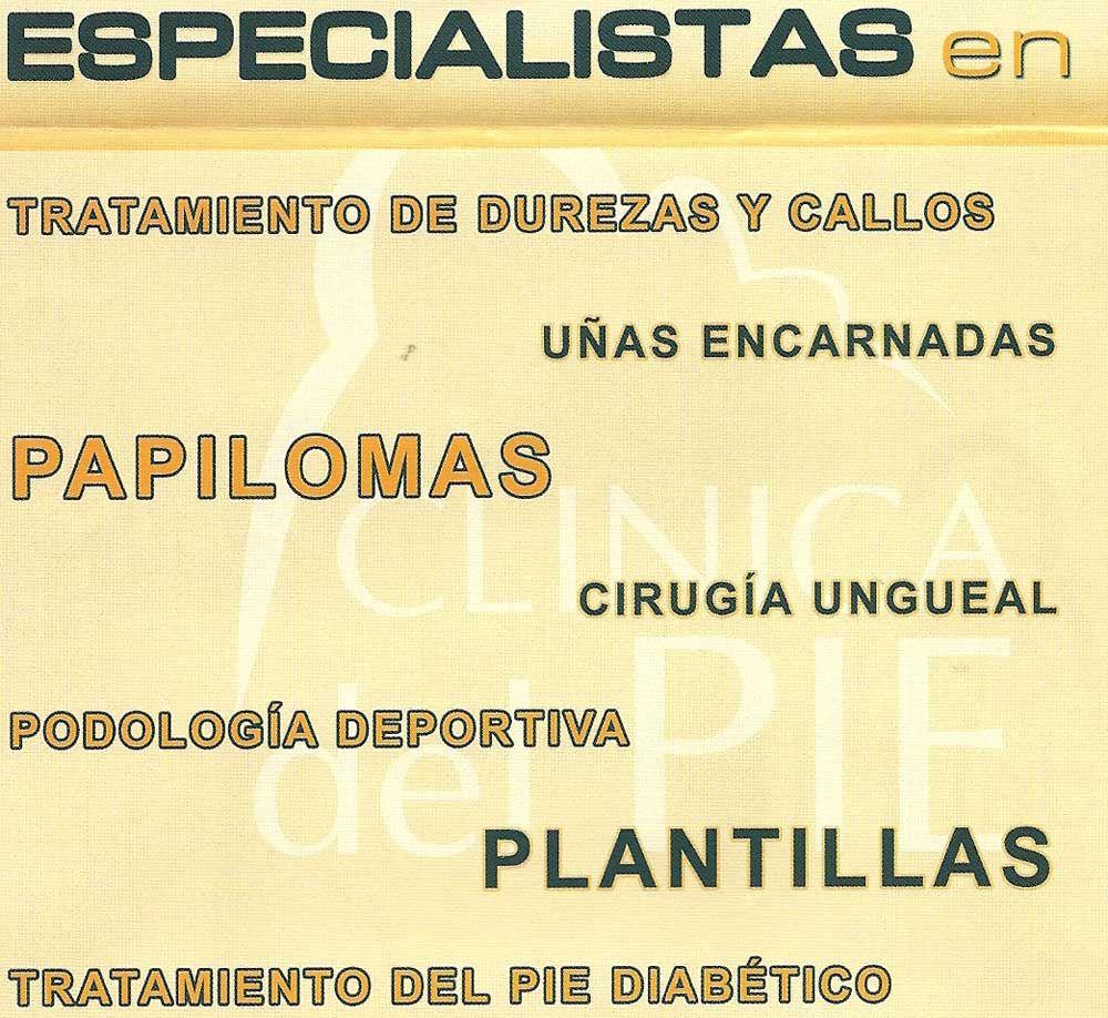TRATAMIENTOS DE PODOLOGÍA