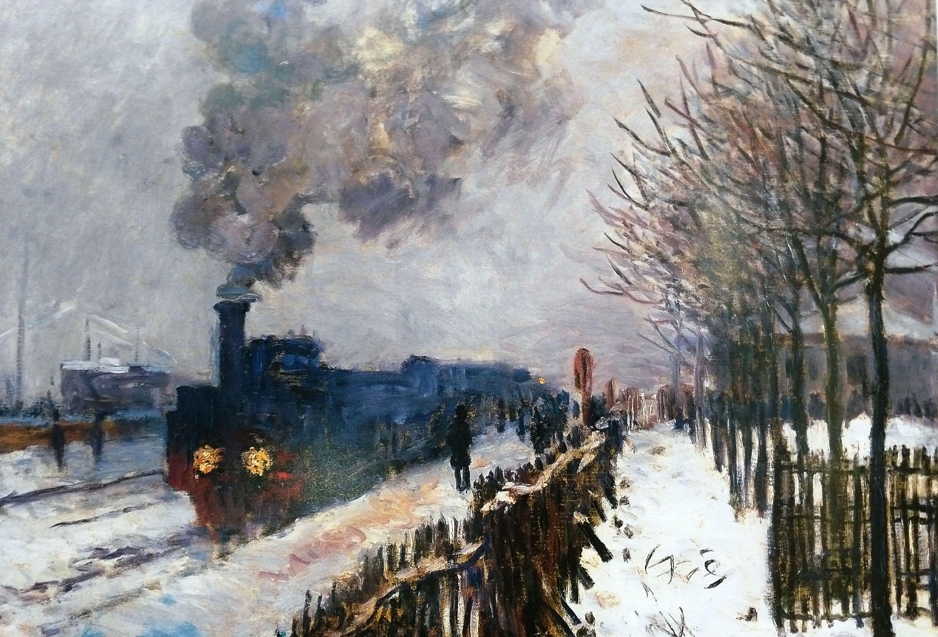 Monet. Tren a través de la nieve. (HOR) t3: CATALOGO de Quadrocomio La Casa de los Cuadros desde 1968