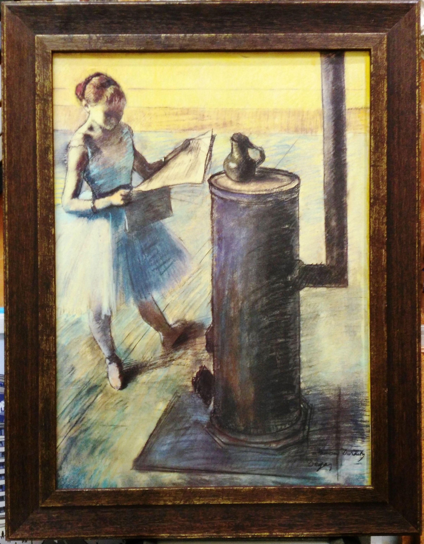 Bailarina calentándose. Degas.: CATALOGO de Quadrocomio La Casa de los Cuadros desde 1968
