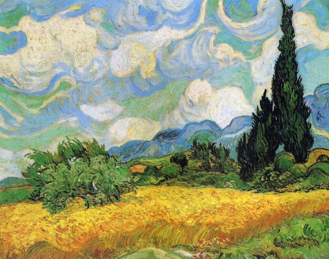 Van Gogh. Campo de Trigo con Cipreses: CATALOGO de Quadrocomio La Casa de los Cuadros desde 1968