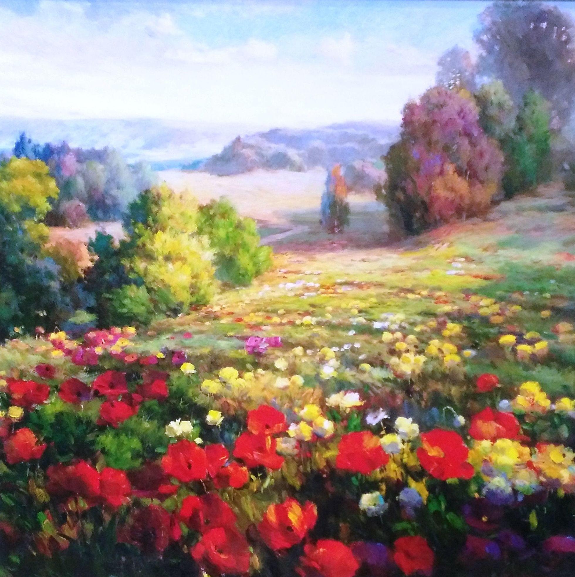 Campo florido.