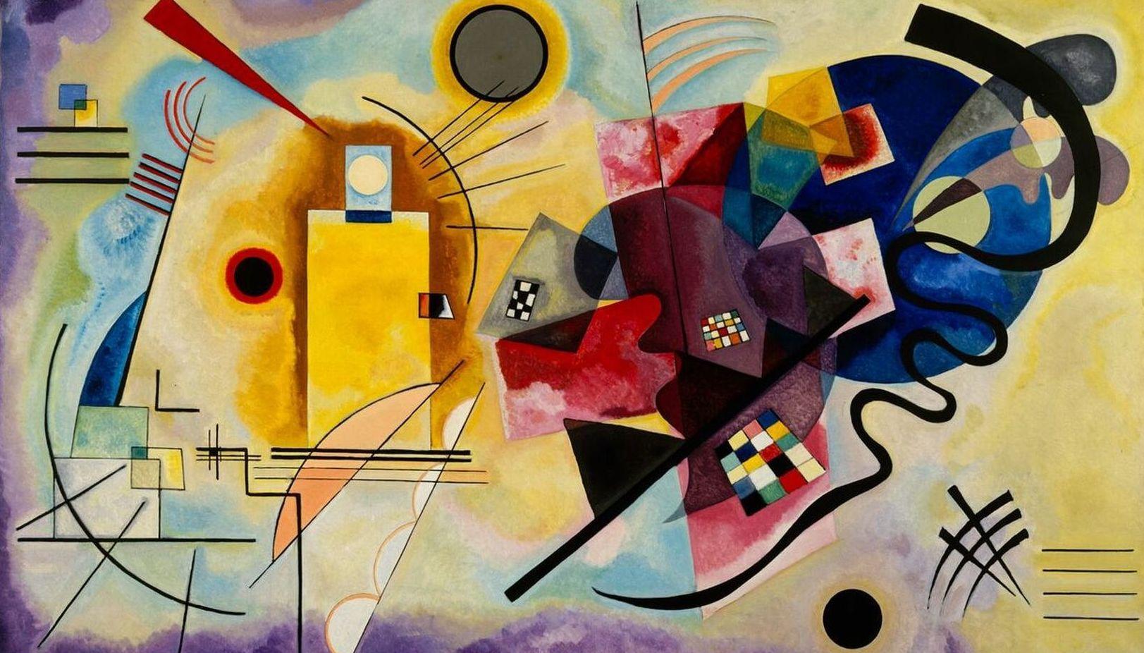 Kandinsky. Amarillo, Rojo, Azul.(HOR): CATALOGO de Quadrocomio La Casa de los Cuadros desde 1968