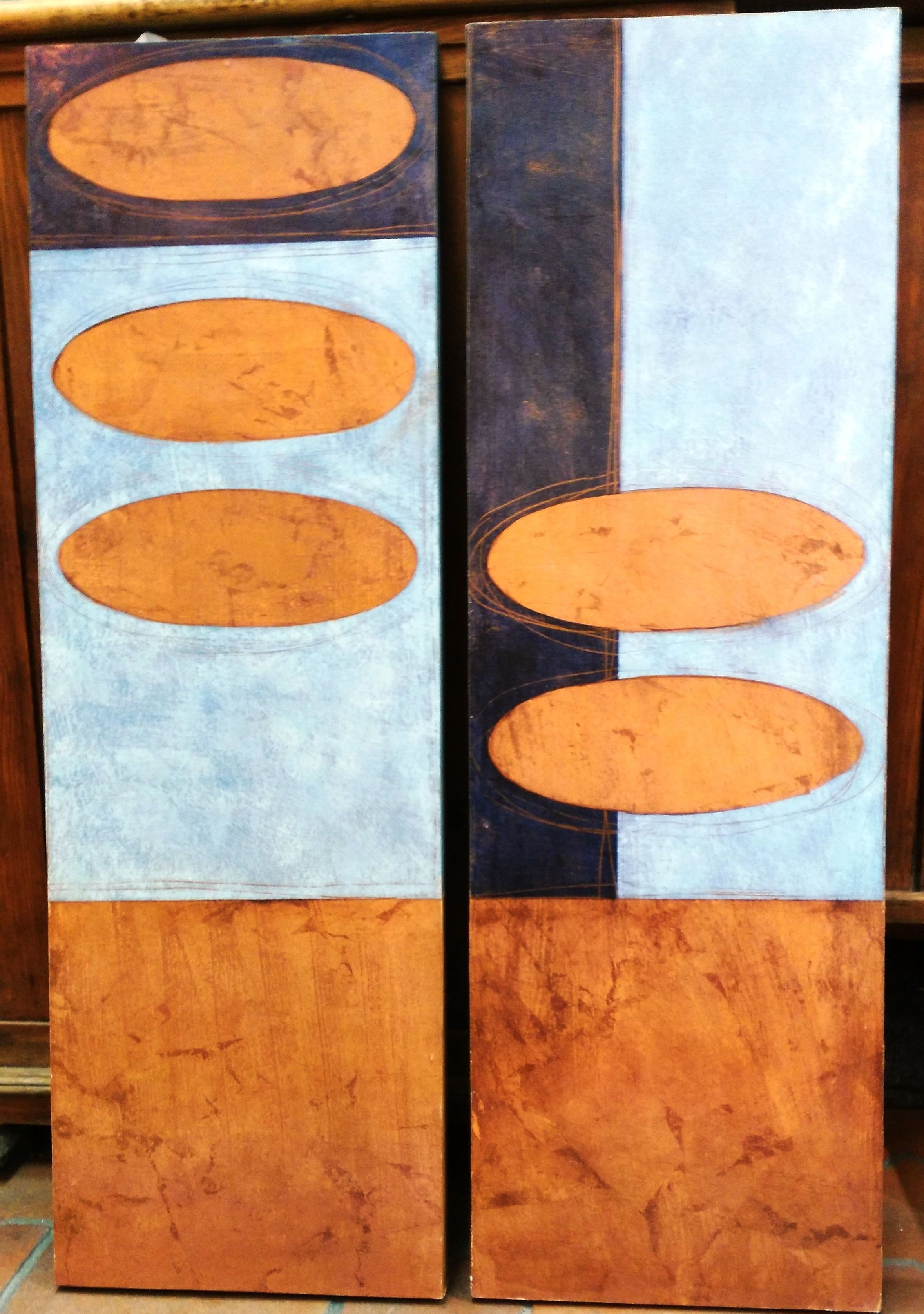 Díptico abstracto.: CATALOGO de Quadrocomio La Casa de los Cuadros desde 1968