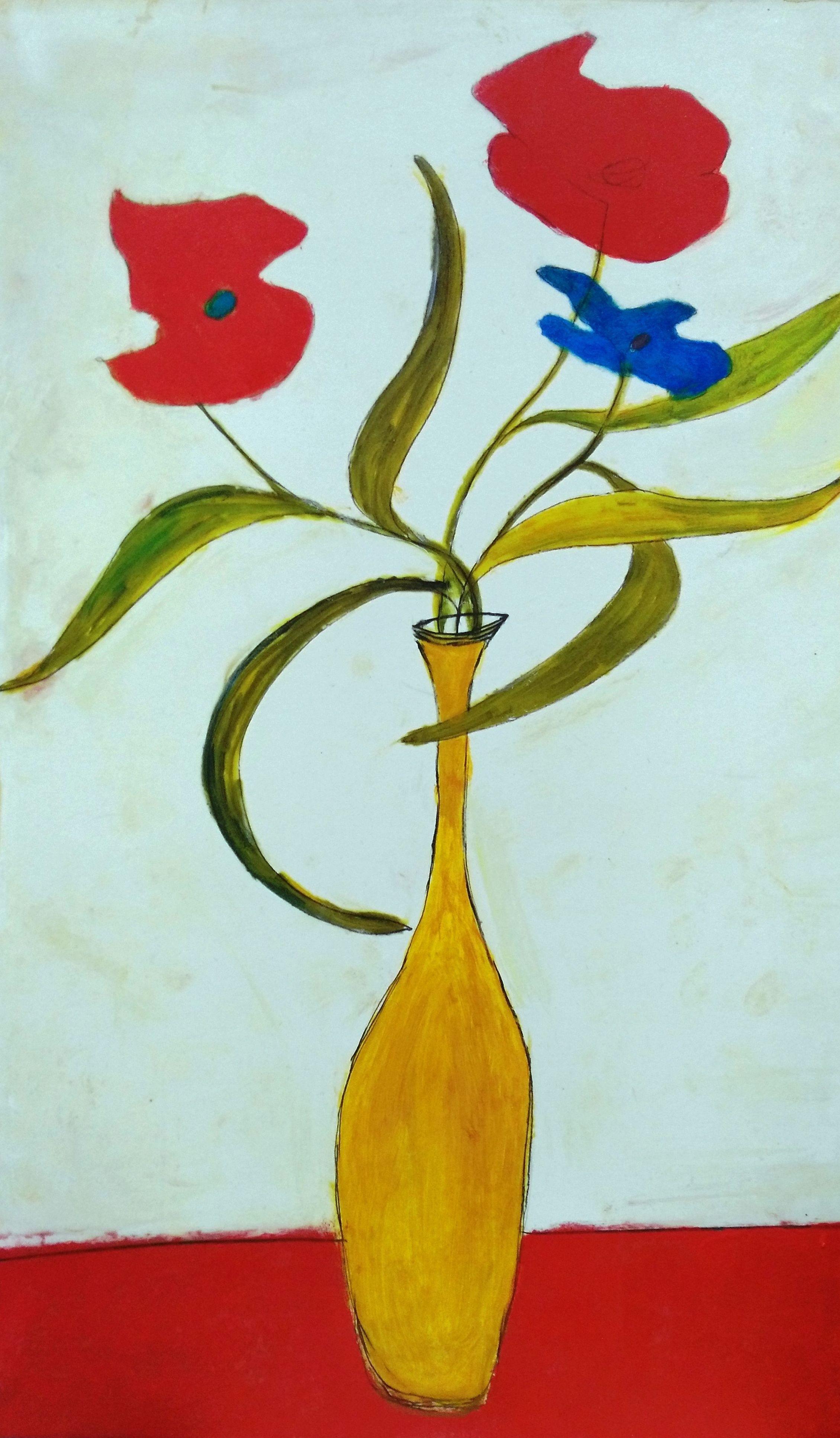 Búcaro flores rojas: CATALOGO de Quadrocomio La Casa de los Cuadros desde 1968