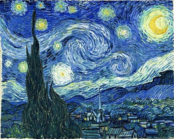 Van Gogh, La Noche Estrellada. (HOR): CATALOGO de Quadrocomio La Casa de los Cuadros desde 1968