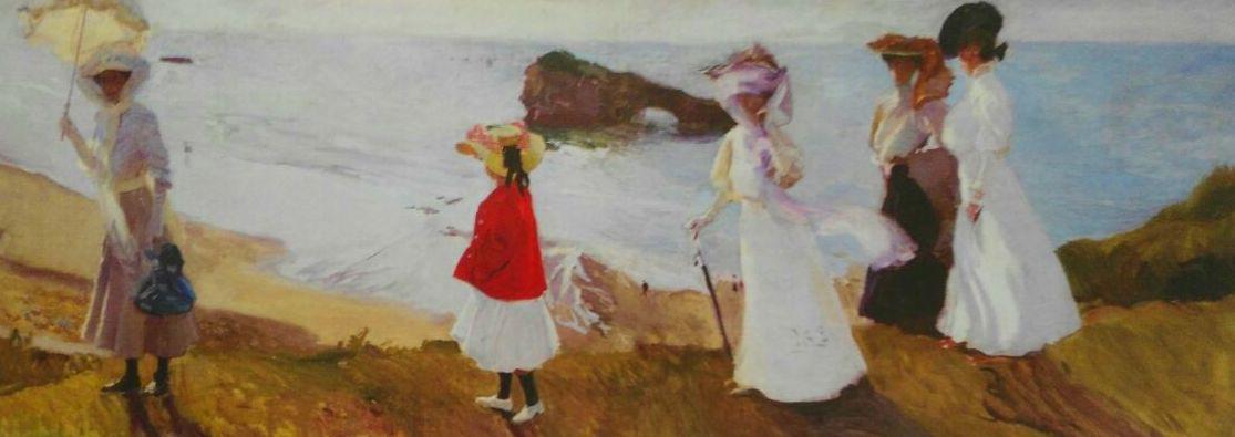 Sorolla. Paseo al Faro de Biarritz. (PAN) t4: CATALOGO de Quadrocomio La Casa de los Cuadros desde 1968