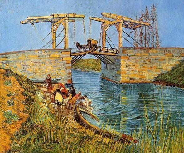 Van Gogh, El Puente de Anglois con lavanderas (HOR): CATALOGO de Quadrocomio La Casa de los Cuadros desde 1968