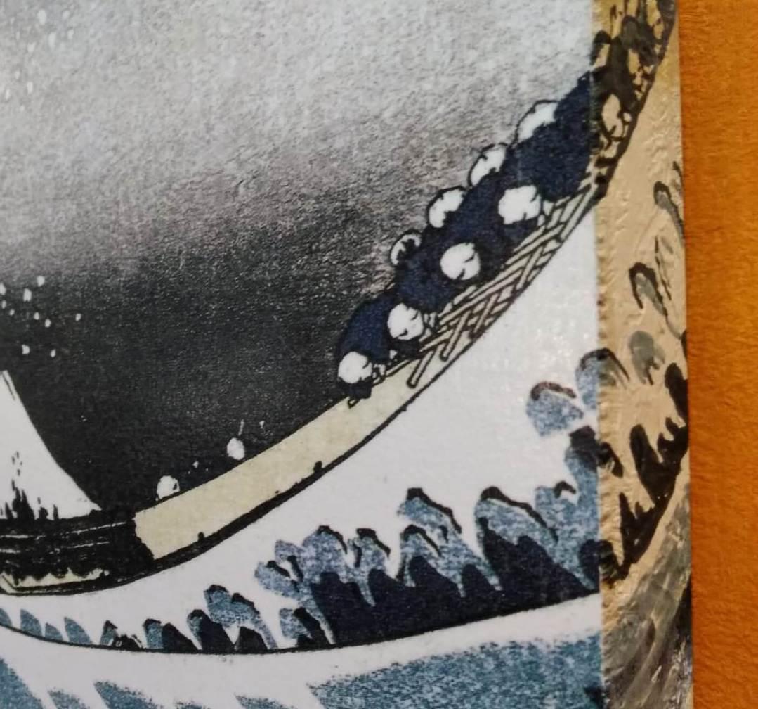 Ola de Hokusai. Detalle.