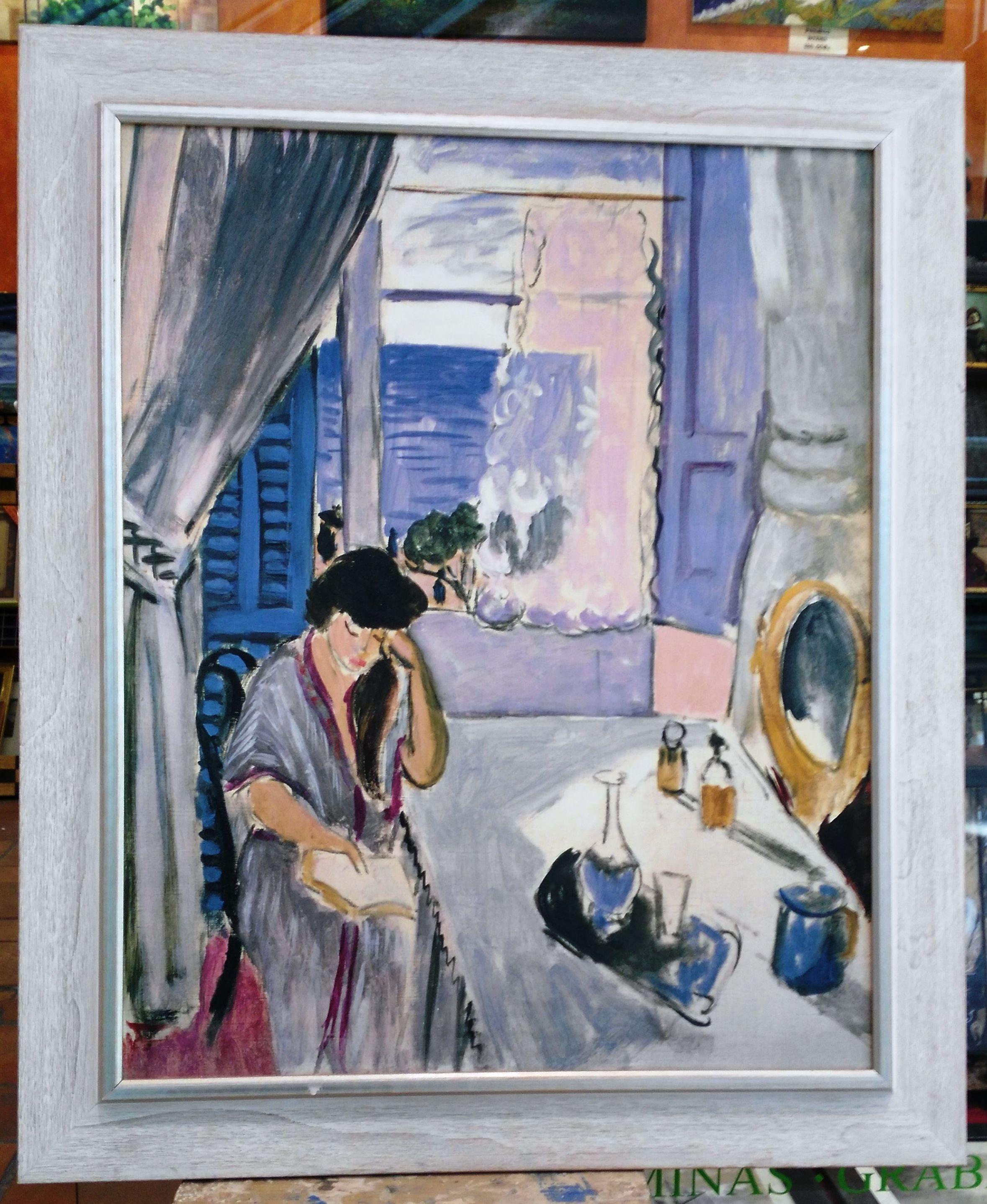 Mujer leyendo: CATALOGO de Quadrocomio La Casa de los Cuadros desde 1968