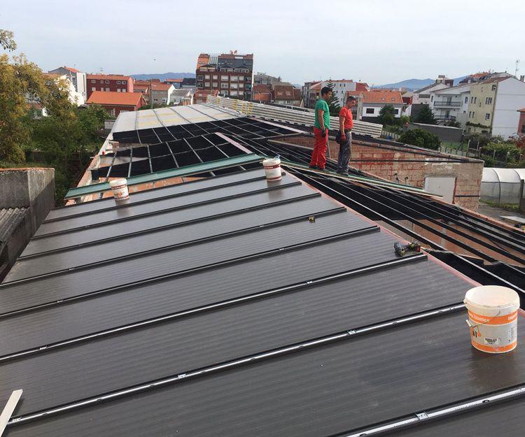 Colocación de paneles en tejados