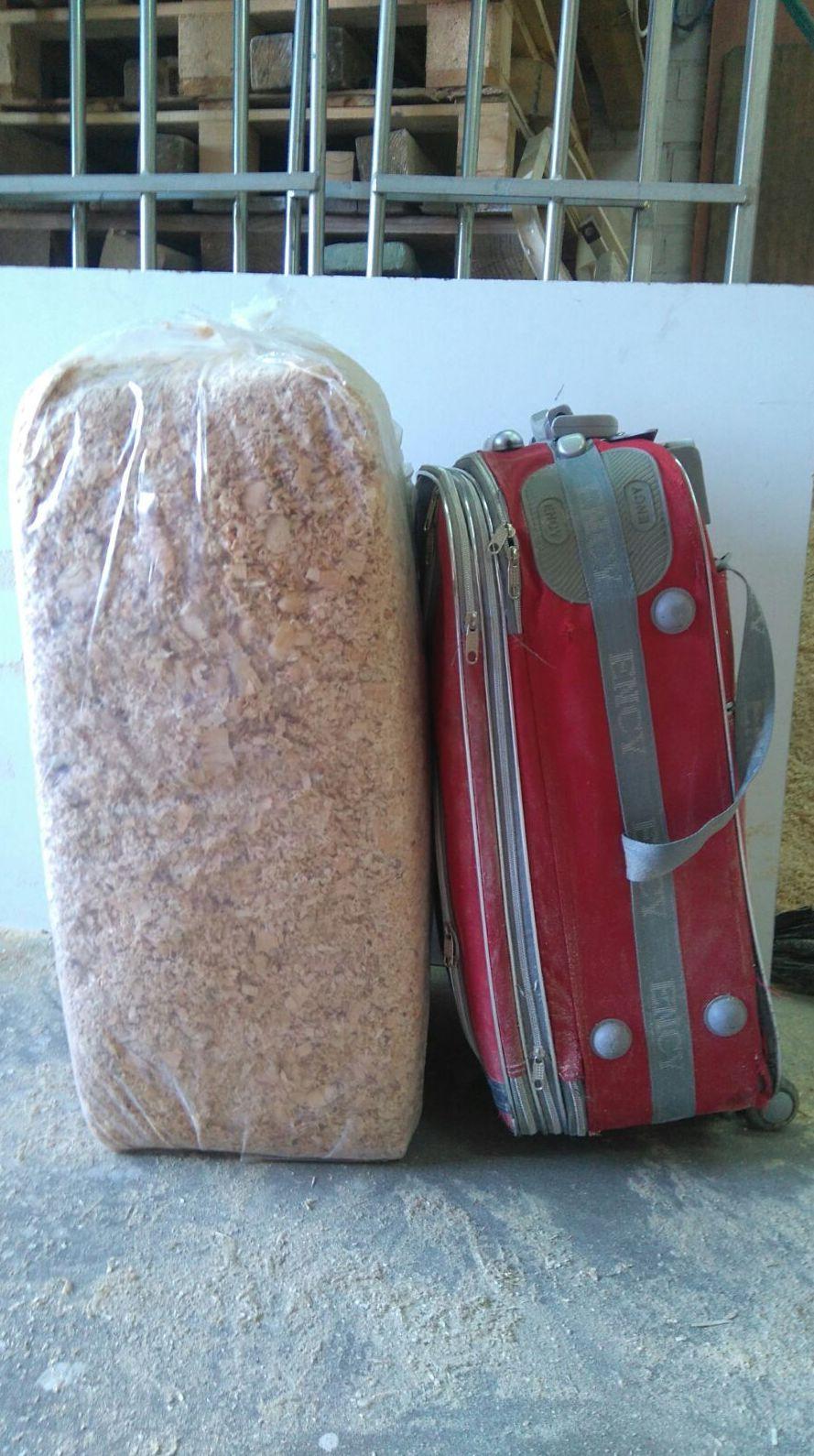 Distintos tamaños de sacos de serrín según sus necesidades
