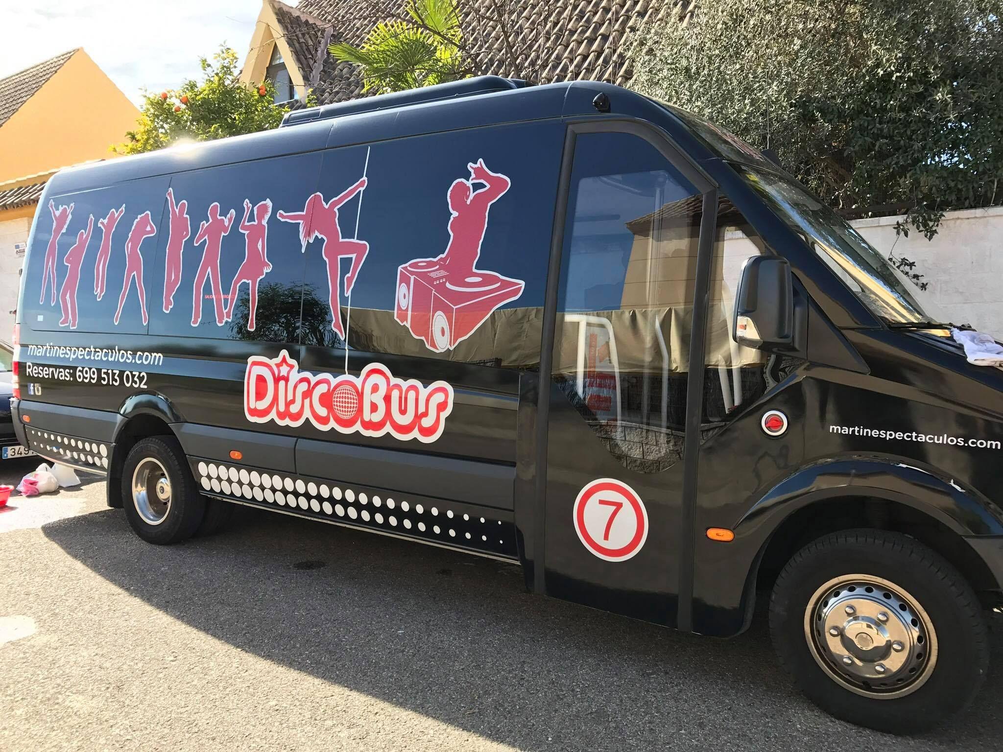 Eventos particulares en discobús