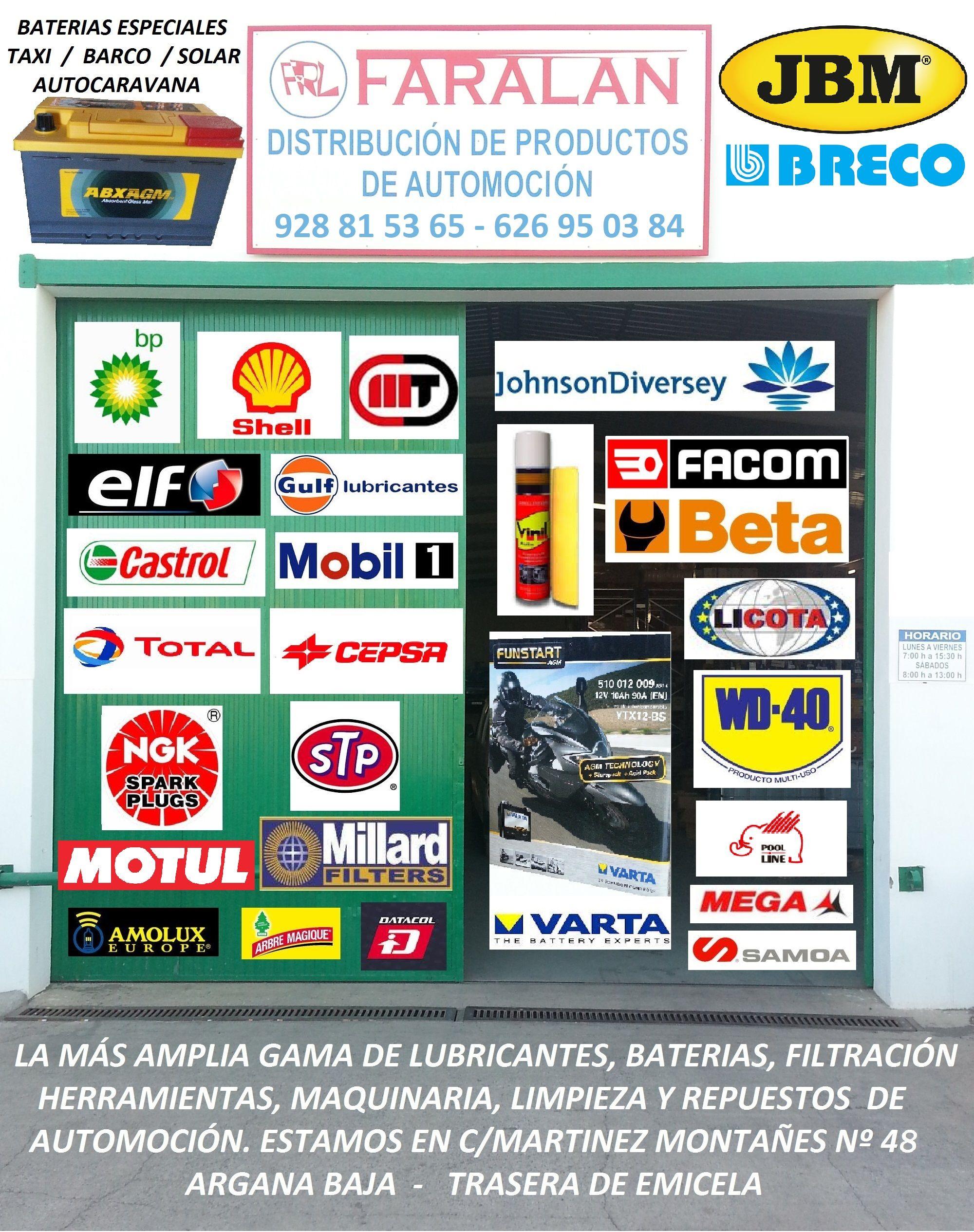 Foto 0 de Distribuidor de productos de automoción en  | Faralan, S.L.