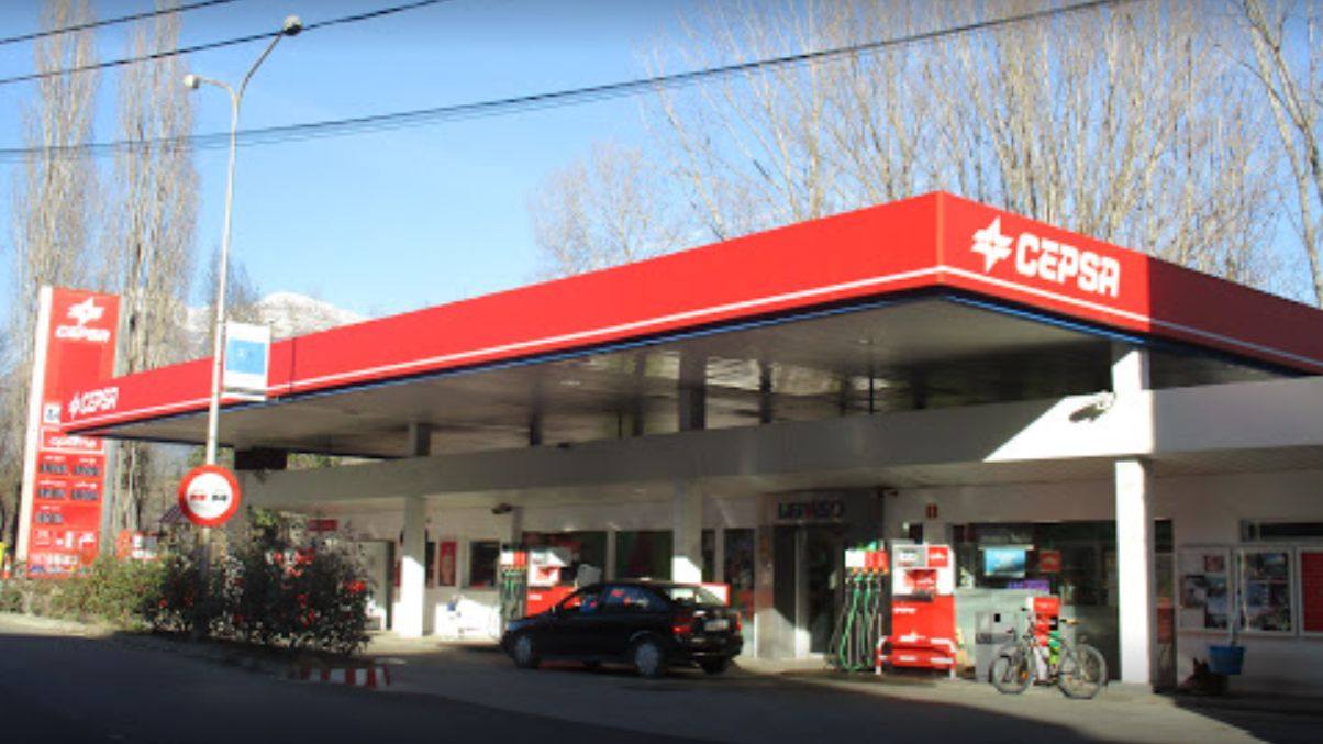 Gasolinera Cepsa en Aínsa