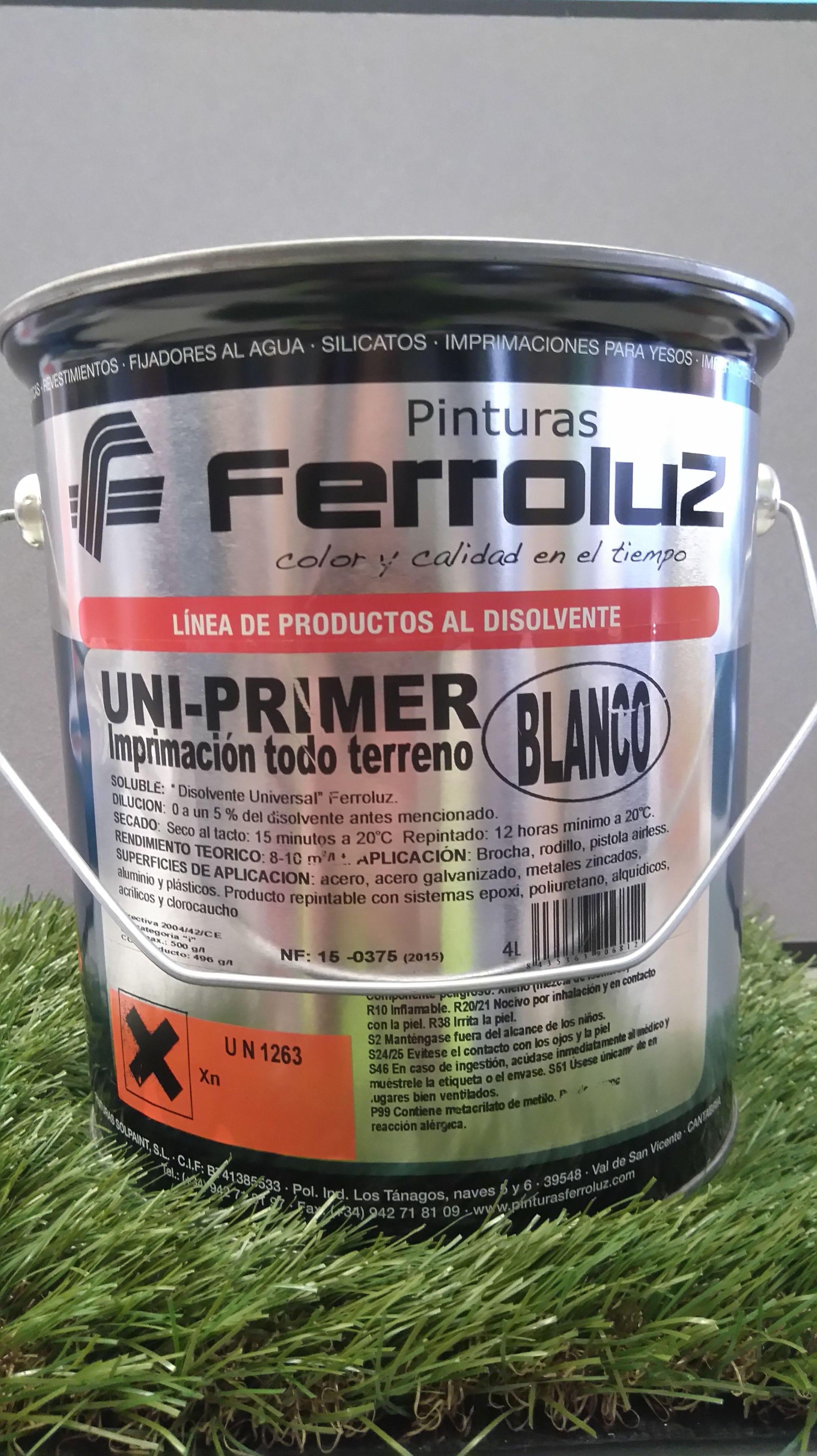 Imprimació mulitús FERROLUZ al disolvent UNIPRIMER: Pinturas y Complementos de Sa&Vi