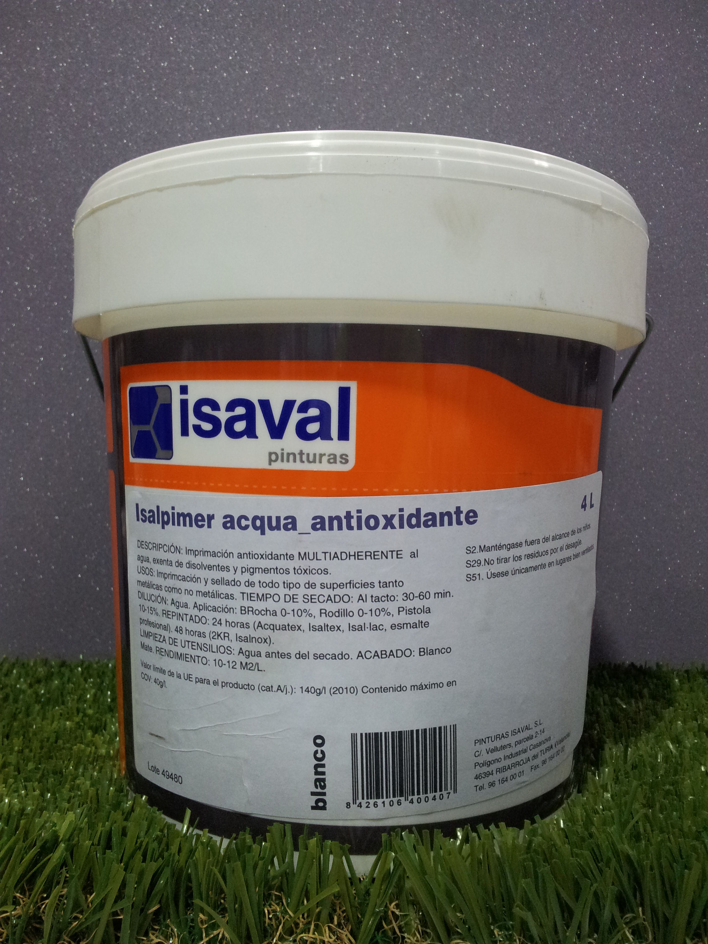 Imprimación Multiadherente ISAVAL Isalprimer Acqua_Antioxidante