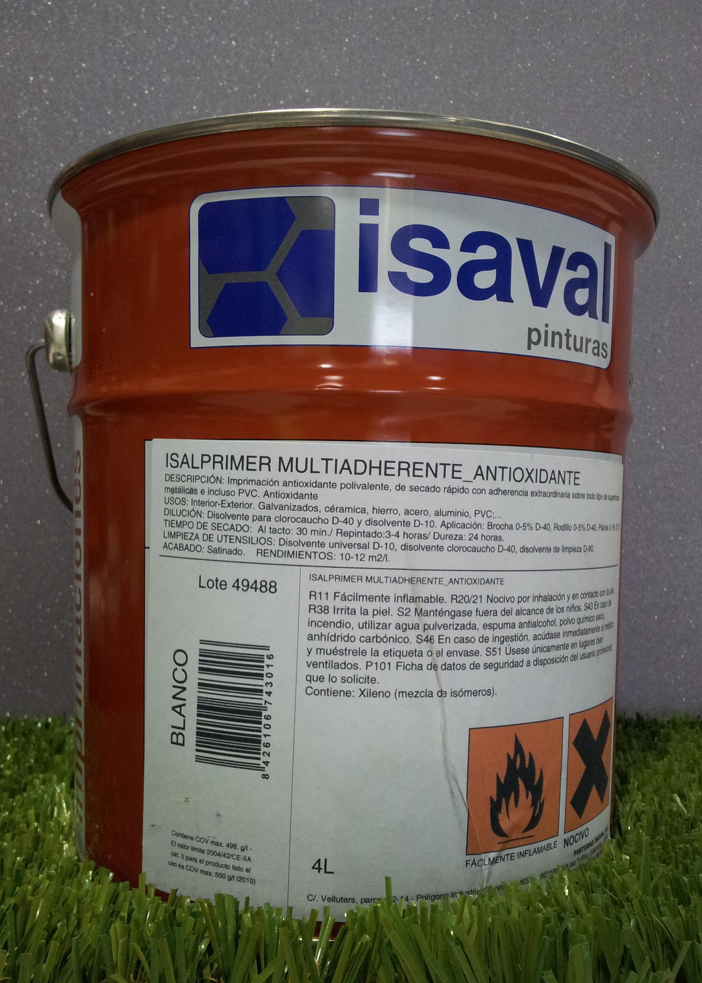 Imprimación Multiadherente ISAVAL Isalprimer Antioxidante