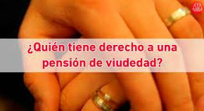 Pensión de viudedad. Separaciones y Divorcios