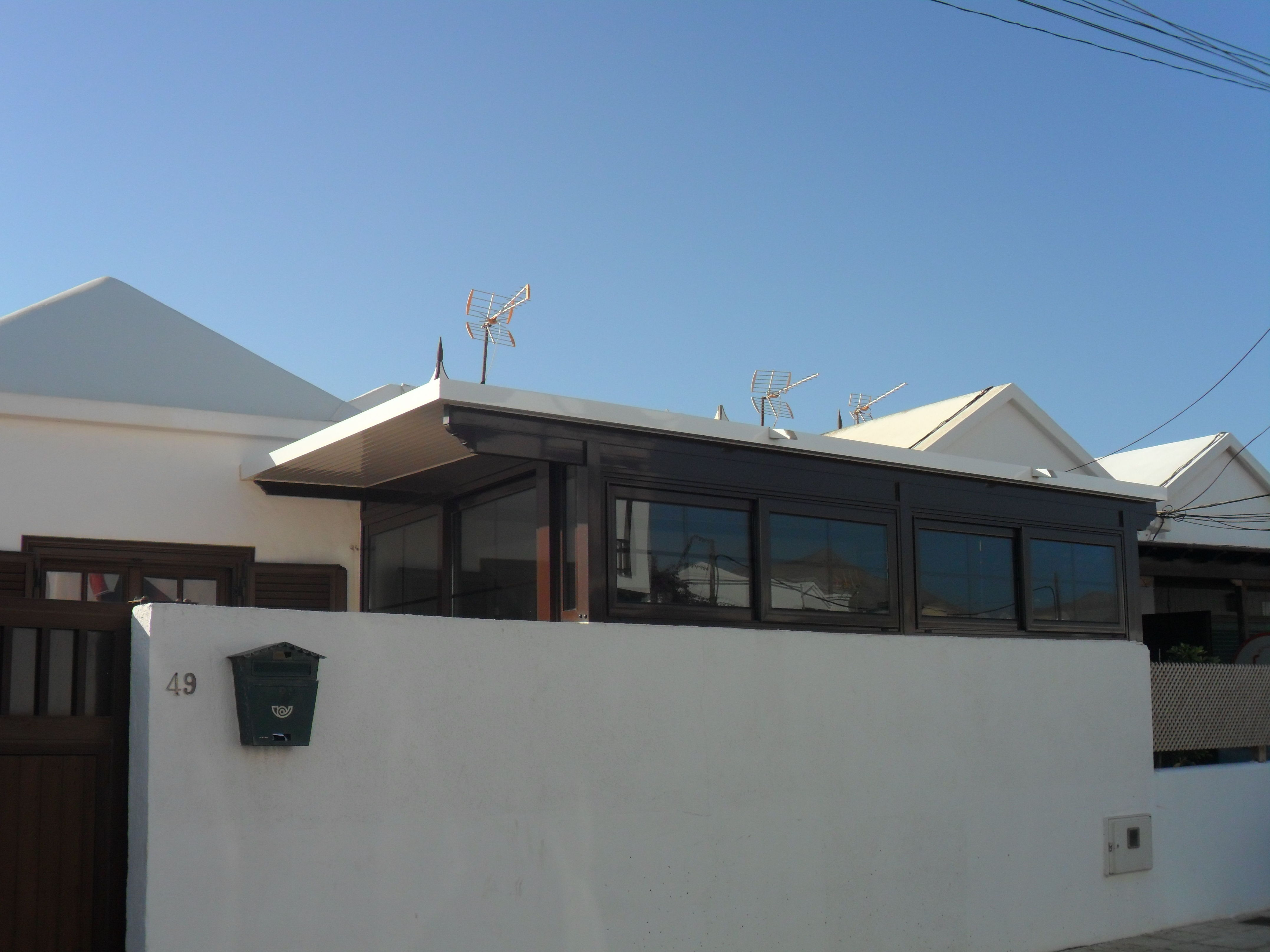 Cerramiento de terraza con aluminio