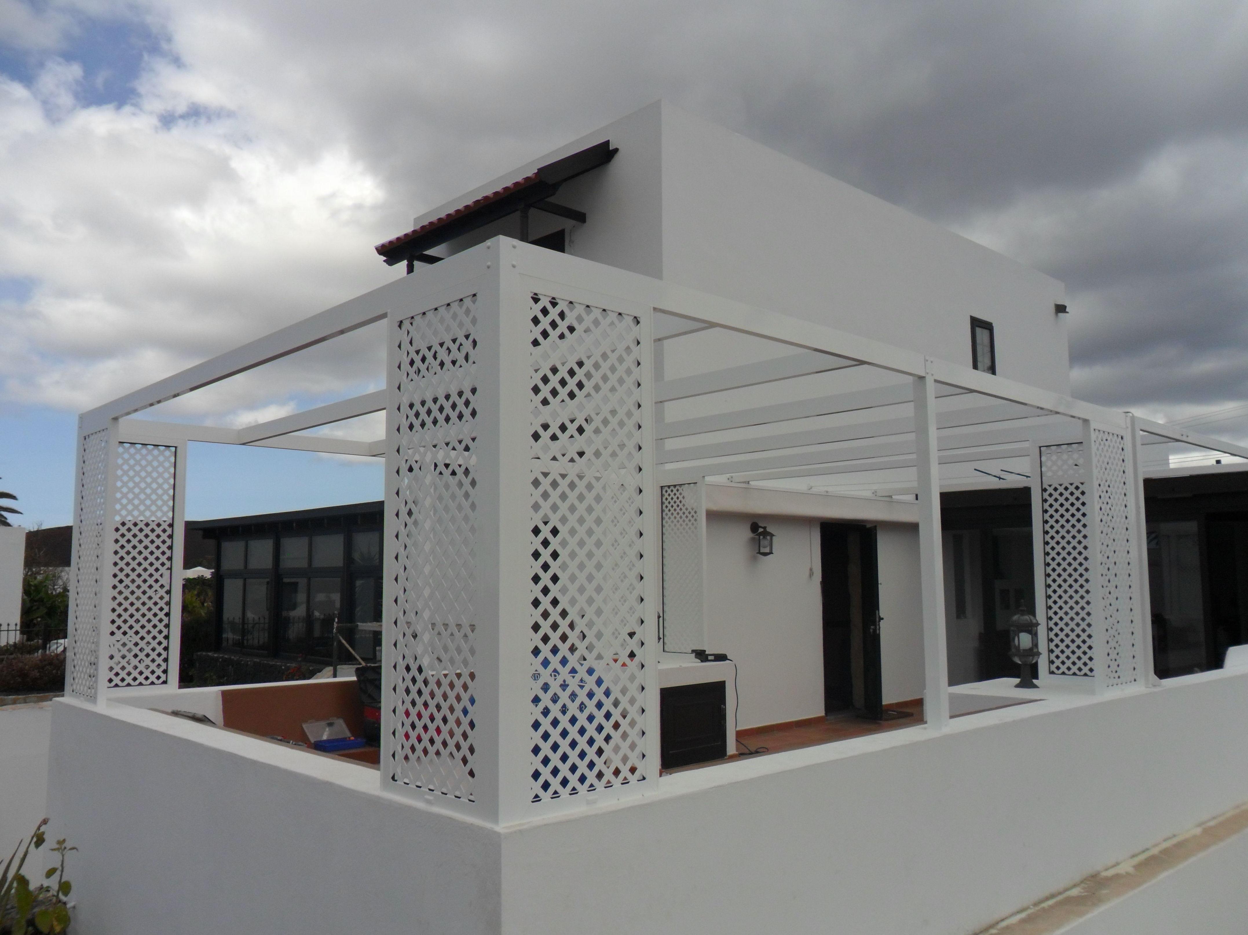 Celosía de aluminio para terraza