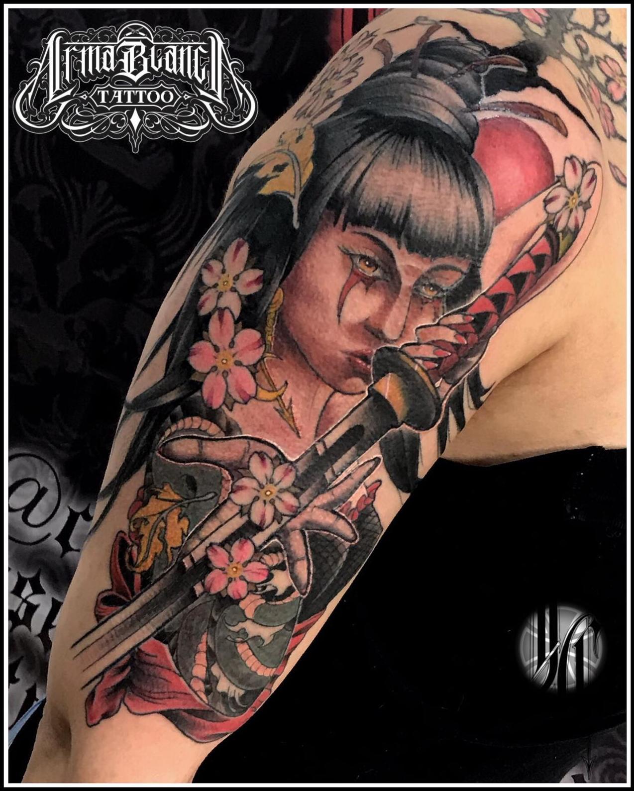 Guerrera color tattoo