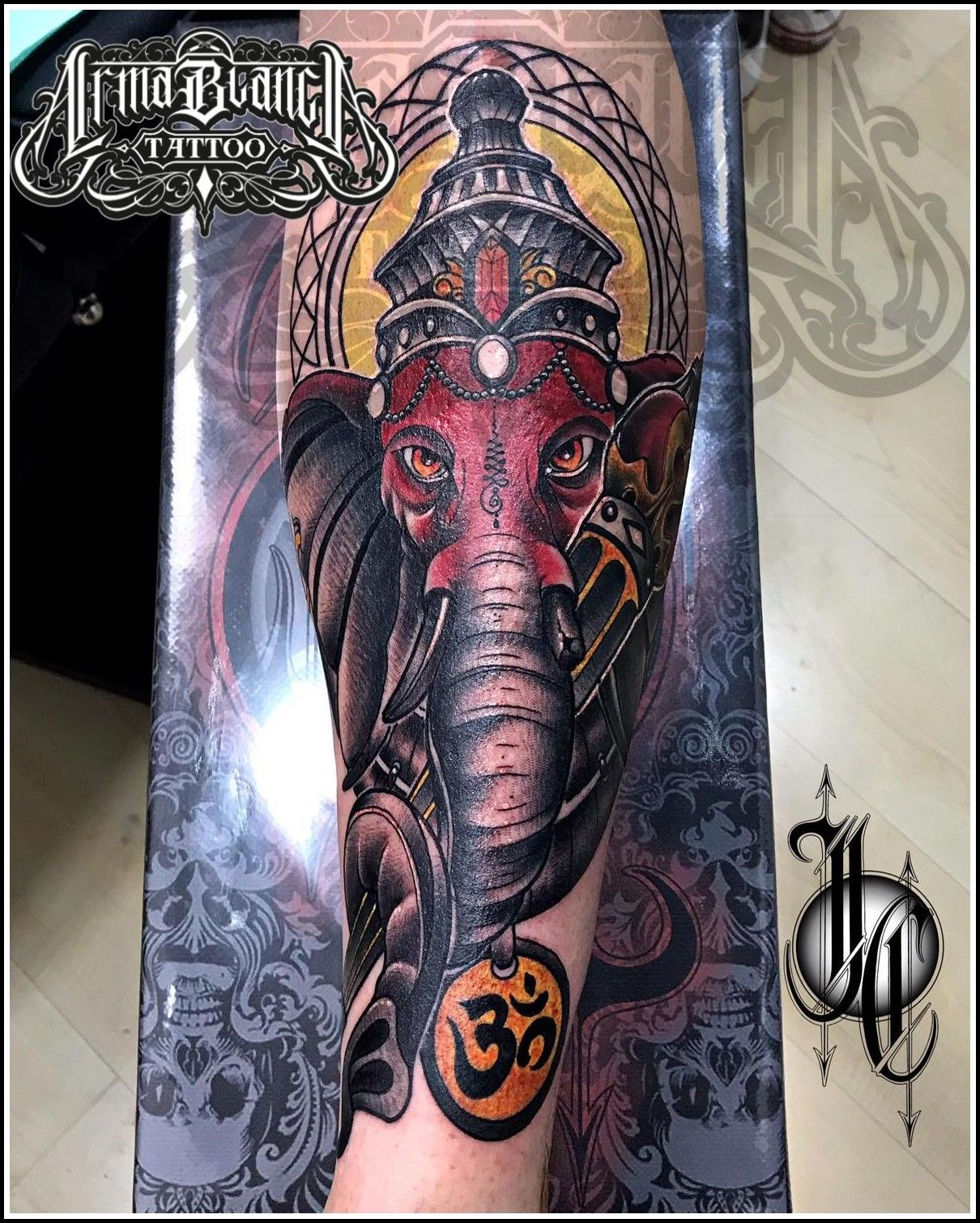 Elefante Ganesha tattoo