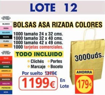 BOLSA ASA RIZADA COLORES 3000 UNDS: TIENDA ON LINE de Seriprint Serigrafia
