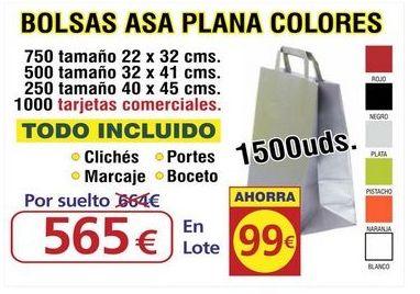 BOLSA ASA PLANA COLORES 1500UNDS: TIENDA ON LINE de Seriprint Serigrafia