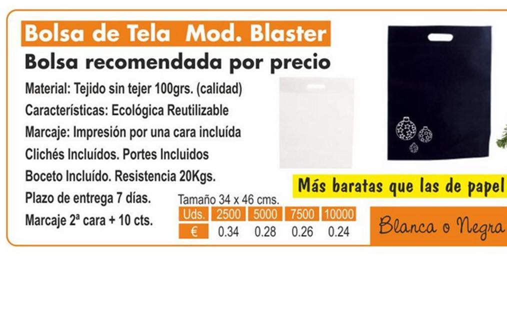 BOLSA DE TELA MODELO BLASTER: TIENDA ON LINE de Seriprint