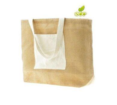 Bolsa en material 100% yute y algodón
