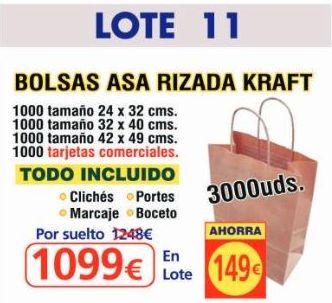 BOLSA ASA RIZADA KRAFT 3000 UNDS: TIENDA ON LINE de Seriprint