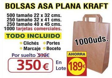 BOLSA ASA PLANA KRAFT 1000 UNDS: TIENDA ON LINE de Seriprint