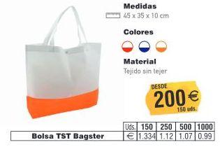 BOLSAS TST BAGSTER 45X35CMS: TIENDA ON LINE de Seriprint Serigrafia