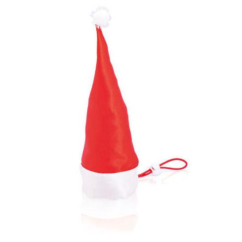 Bolsa plegable de divertido diseño navideño en llamativo color rojo.