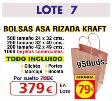 BOLSA ASA RIZADA KRAFT 950UNDS: TIENDA ON LINE de Seriprint Serigrafia